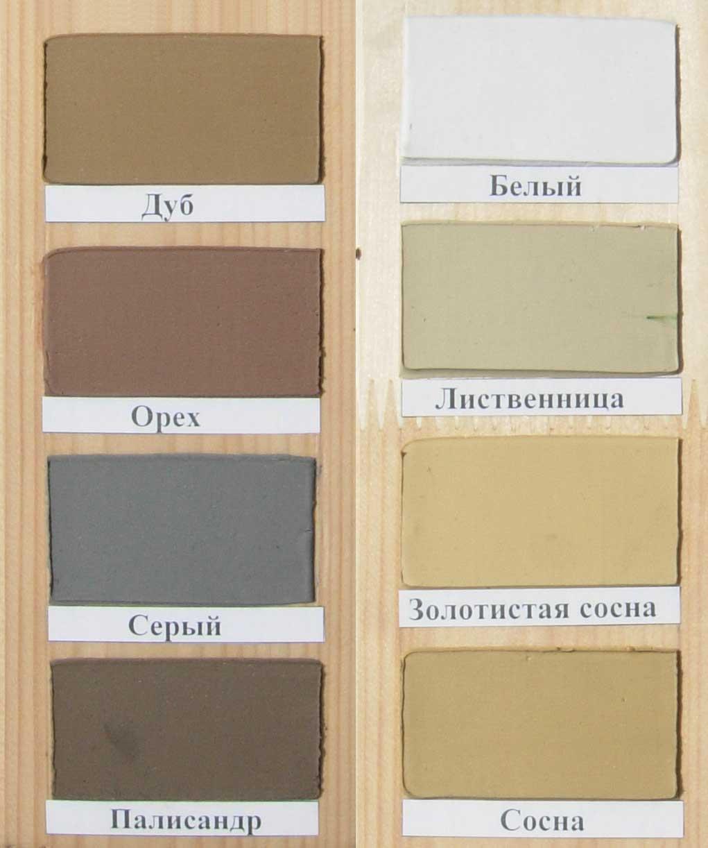 акриловый герметик цвета