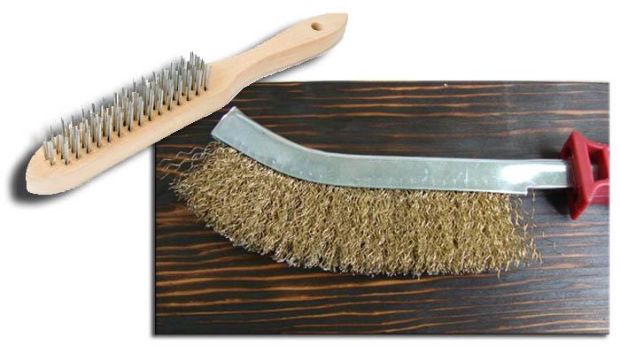 браширование древесины металлической щеткой