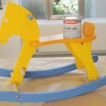 Покрываем деревянную игрушку акриловым лаком