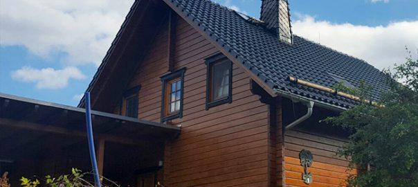 Покраска деревянного дома после зимы с Pullex 3in1-Lasur