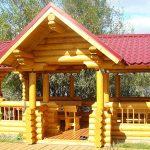 Красим деревянные беседки лазурью Lignovit Lasur