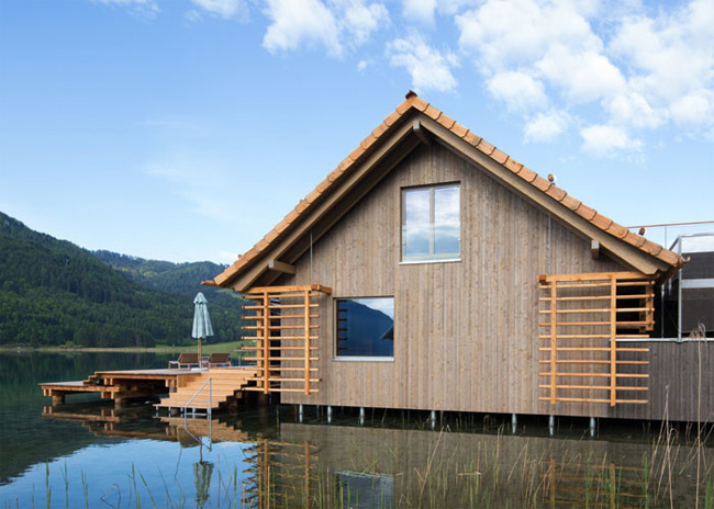 Эффект состаренной древесины на фасаде деревянного дома - Pullex Silverwood