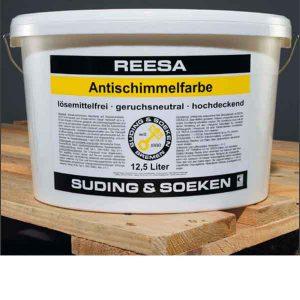 Матовая дисперсионная краска REESA Antischimmelfarbe с фунгицидными свойствами
