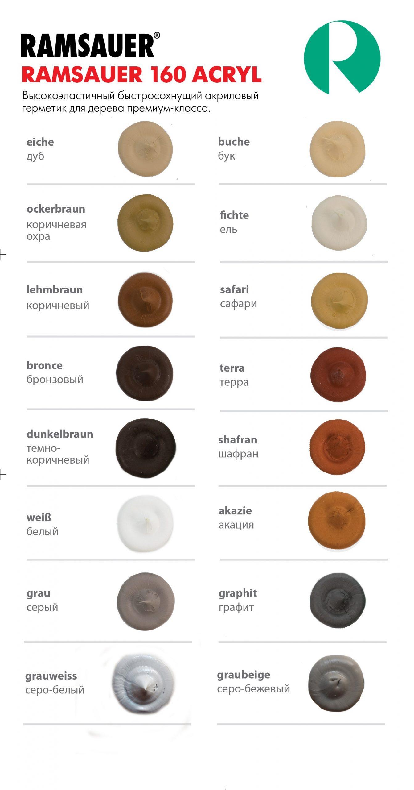ramsauer 160 acryl цвета